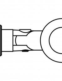 Conector pentru sticla - 02-22-21 F