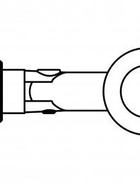Conector pentru sticla - 02-22-22 F