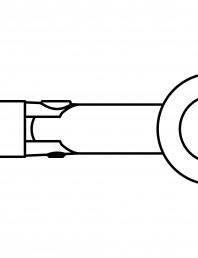 Conector pentru sticla - 02-22-23 F