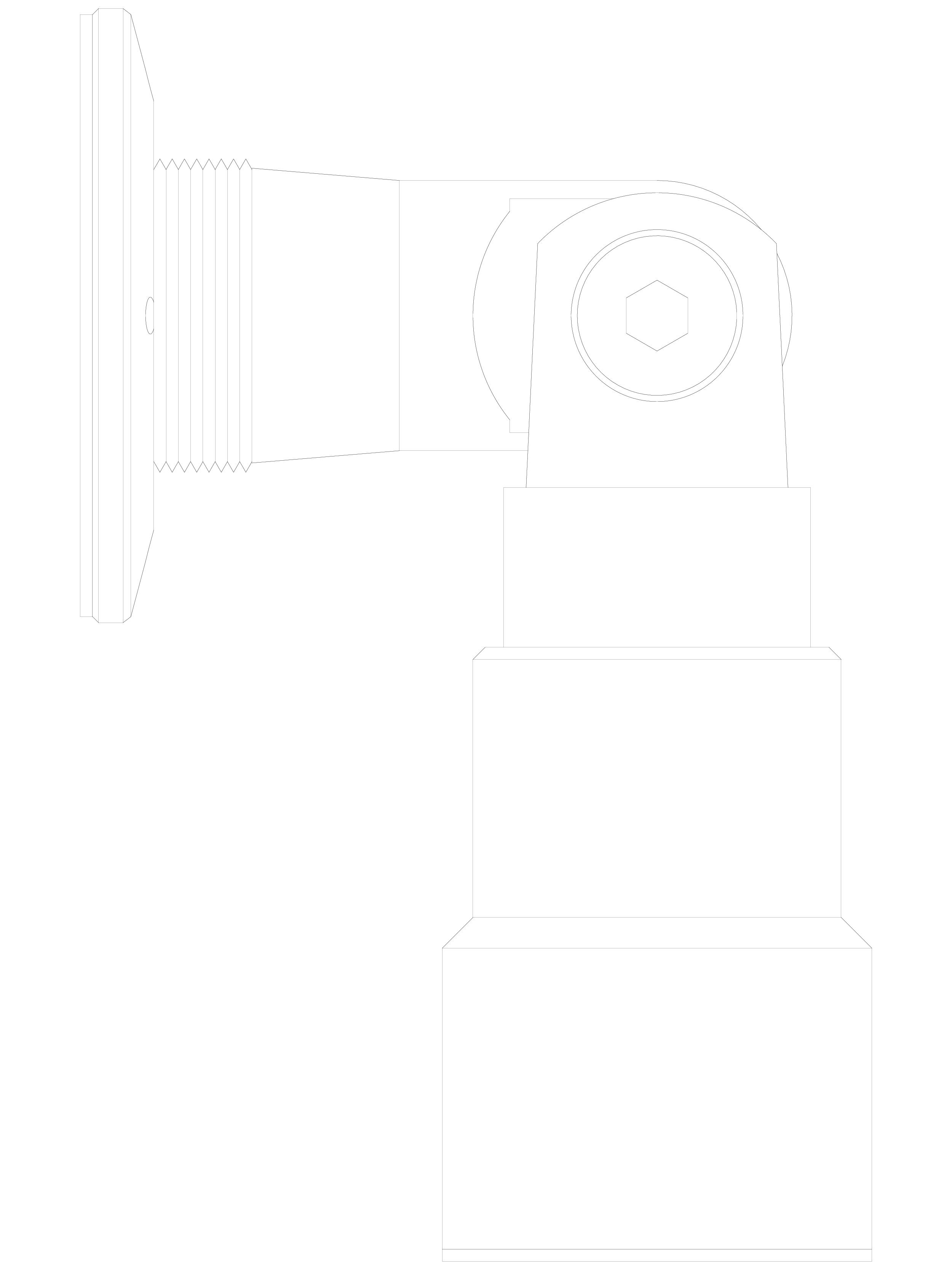 Pagina 1 - CAD-DWG Conector pentru sticla - 02-23-24 C SADEV DECOR Detaliu de produs Conectori