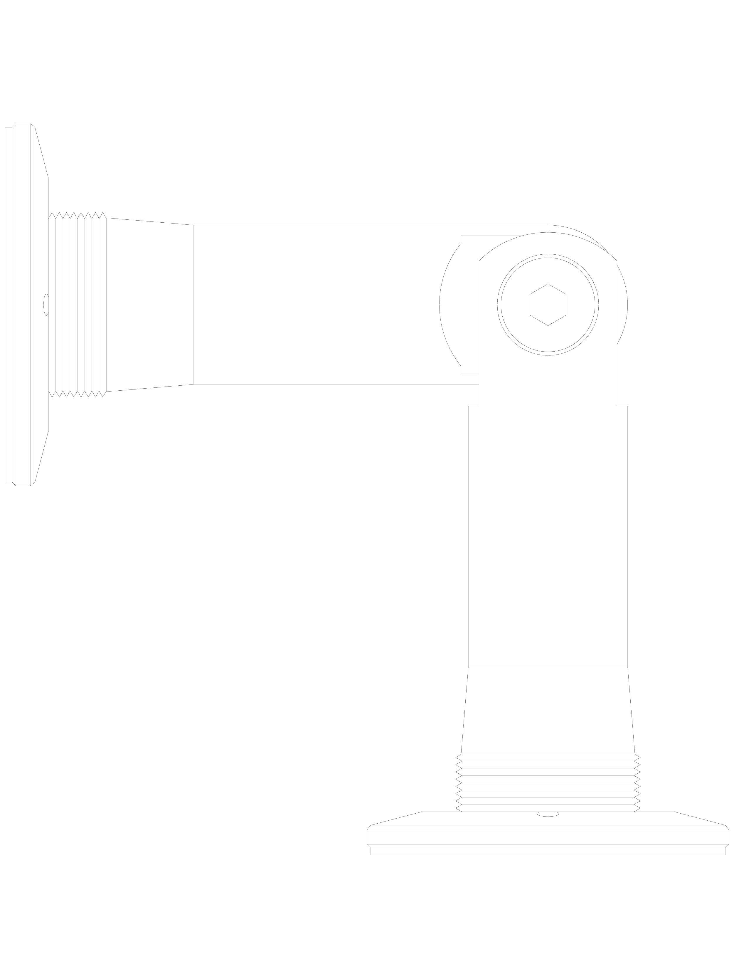 Pagina 1 - CAD-DWG Conector pentru sticla - 02-24-26 C SADEV DECOR Detaliu de produs Conectori