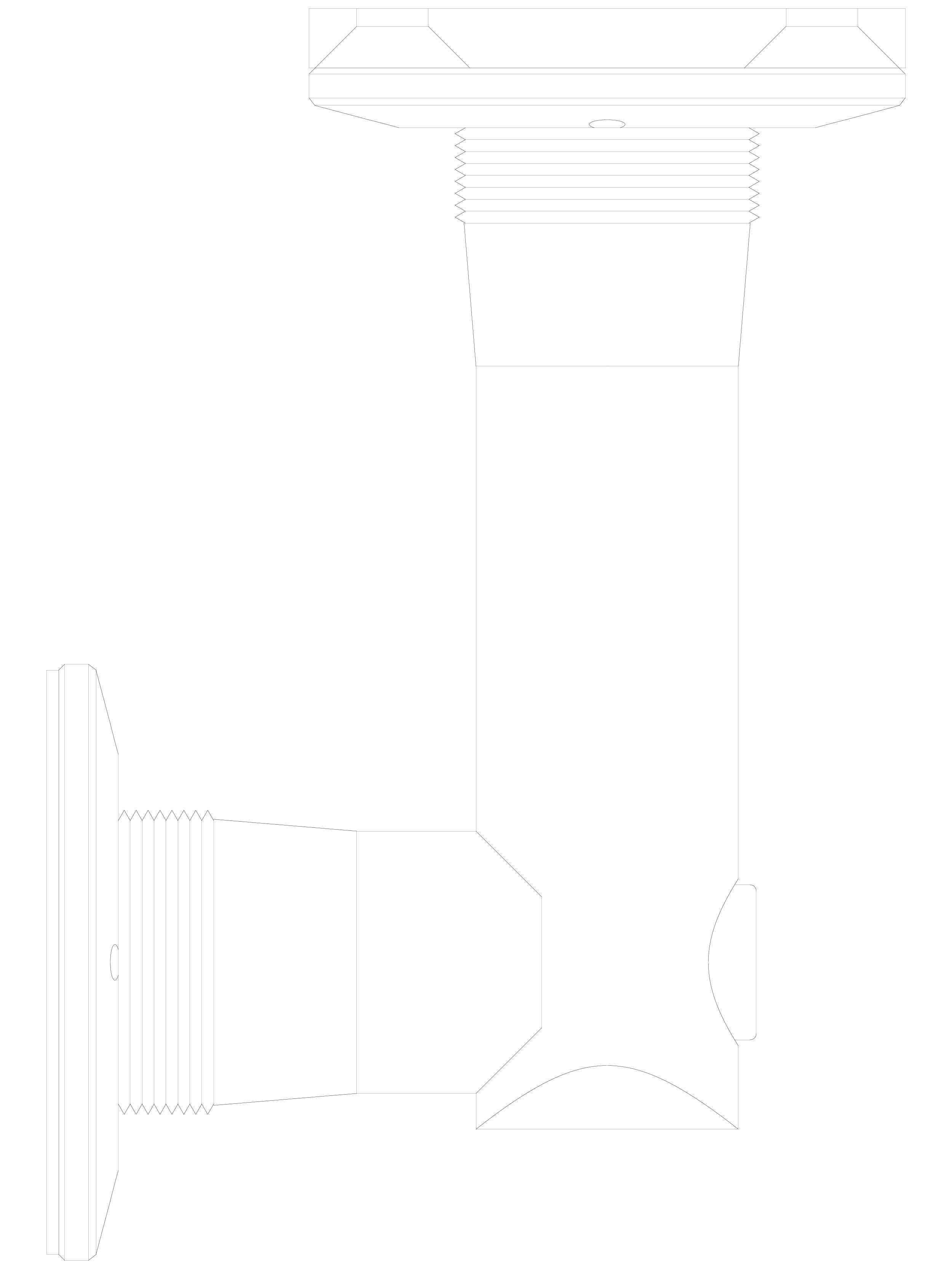Pagina 1 - CAD-DWG Conector pentru sticla - 02-24-29 C SADEV DECOR Detaliu de produs Conectori