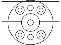 Sistem de fixare usi glisante din sticla - 05-50-58-50 F SADEV DECOR