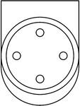 Sistem de fixare usi glisante din sticla - 05-55-58-50 F SADEV DECOR - Sisteme de fixare