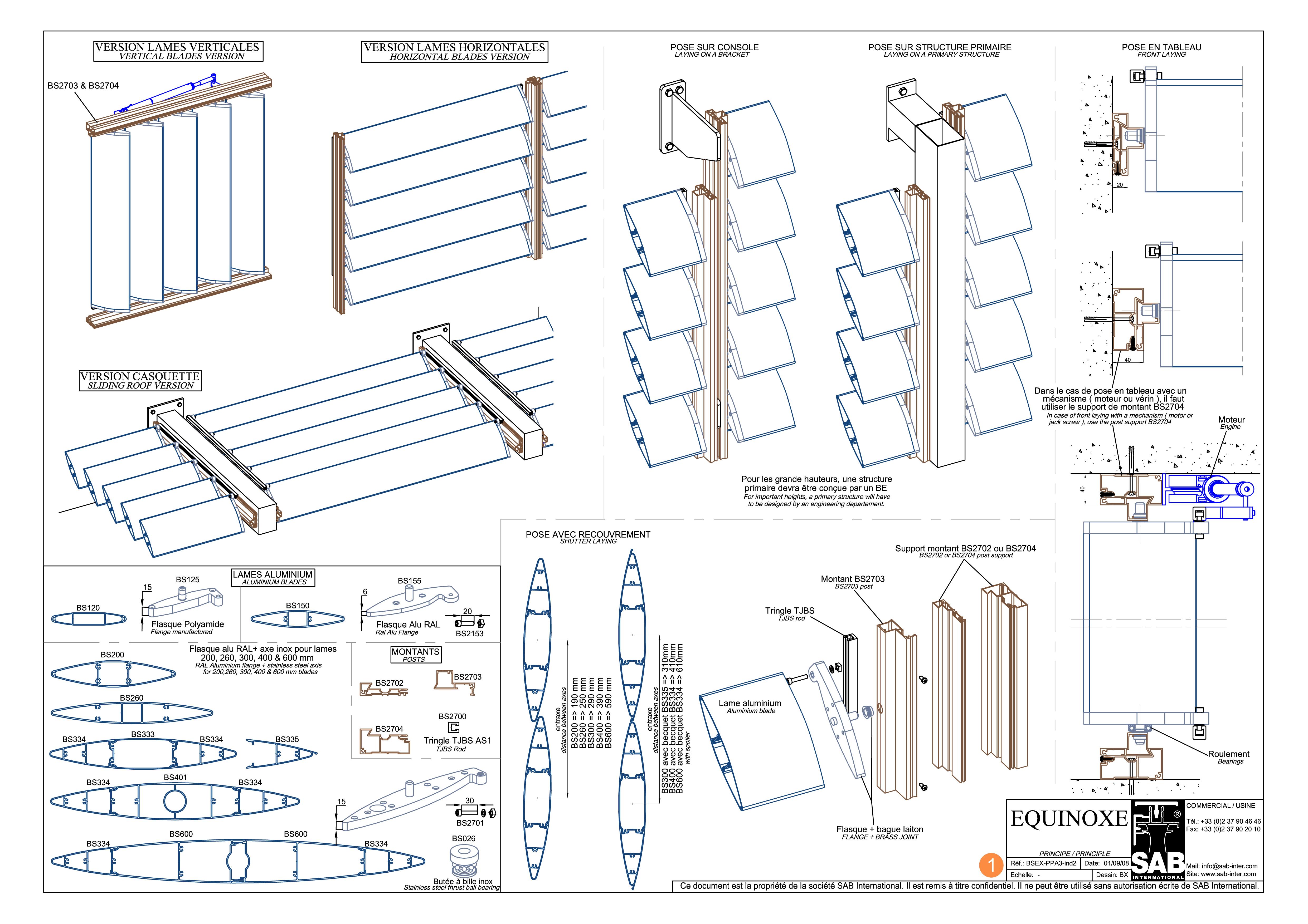 Pagina 1 - CAD-PDF Sisteme de brissoleil-uri SAB Detaliu de produs EQUINOXE