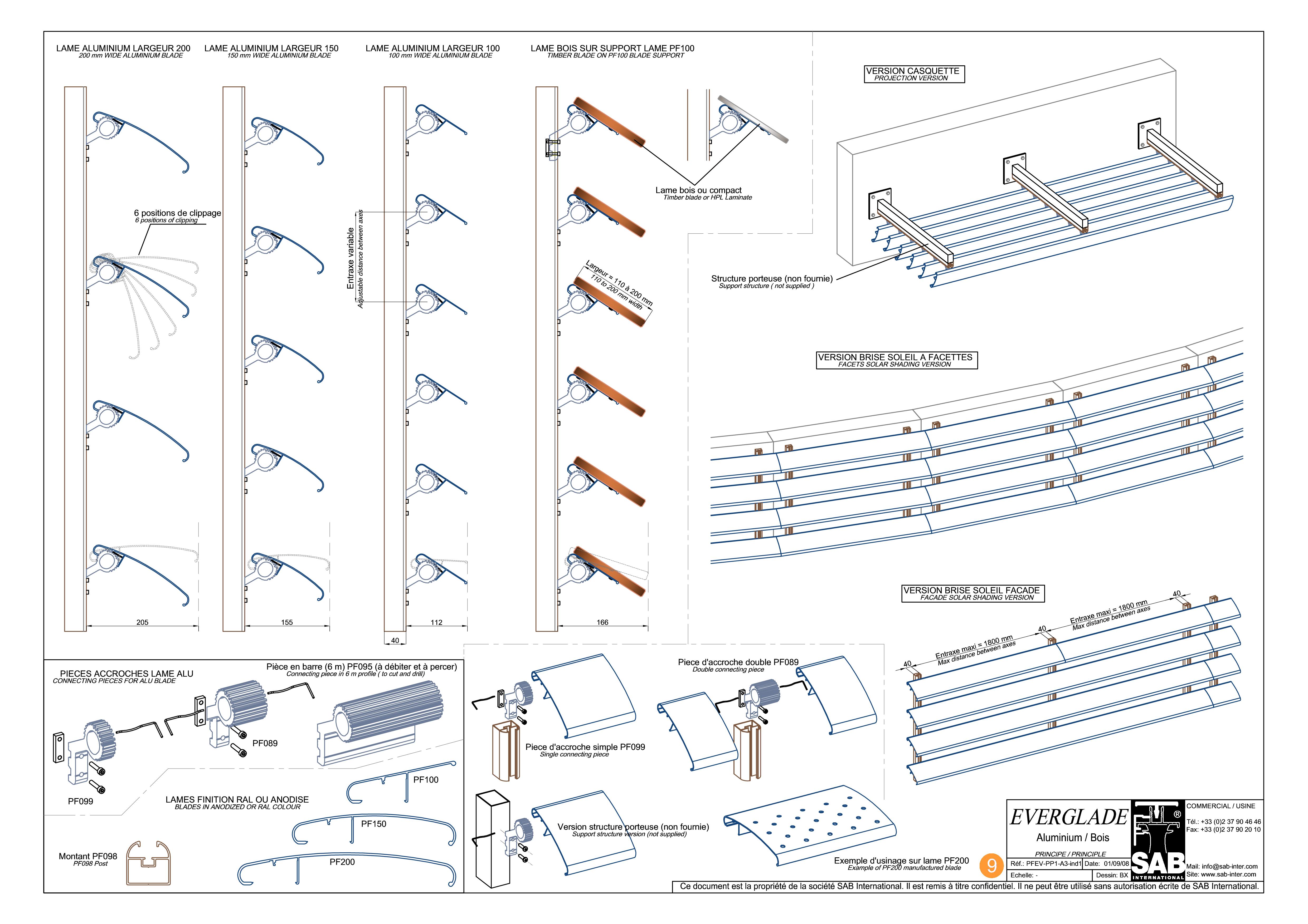 Pagina 2 - CAD-PDF Sisteme de brissoleil-uri din aluminiu si Lemn SAB Detaliu de produs EVERGLADE