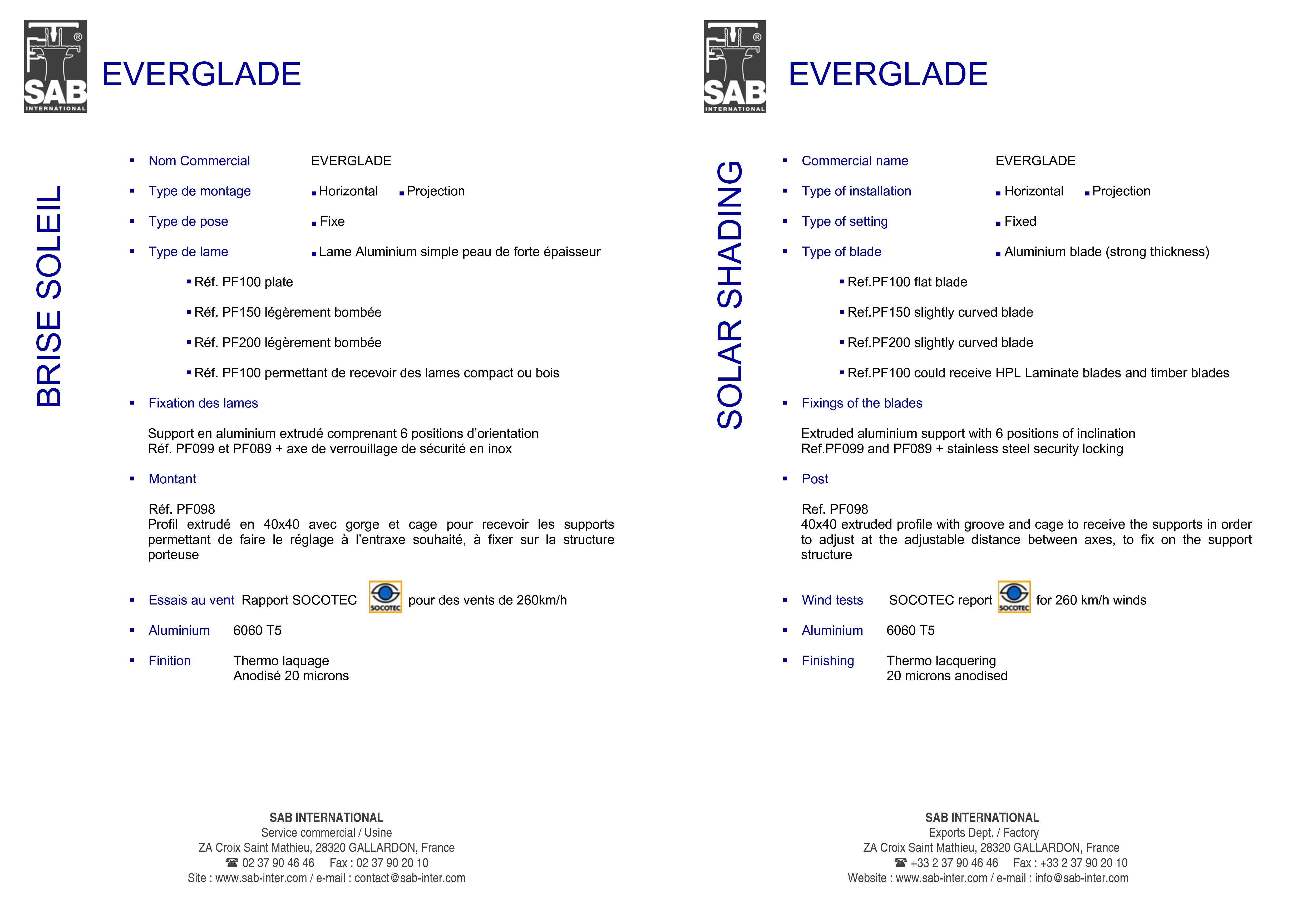 Pagina 3 - CAD-PDF Sisteme de brissoleil-uri din aluminiu si Lemn SAB Detaliu de produs EVERGLADE