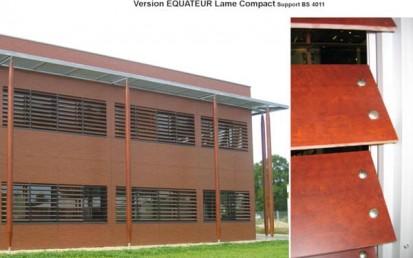 Fatada cu sistem brissoleil EQUATEUR EQUATEUR Sisteme de brissoleil-uri din lemn