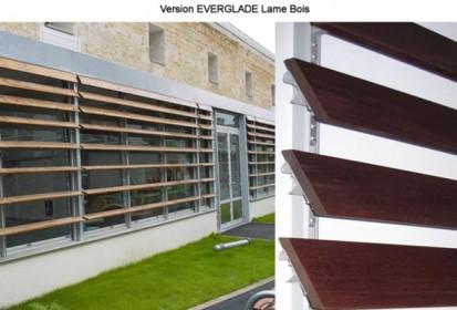 Fatada cu sistem brissoleil EVERGLADE - lamele lemn EVERGLADE Sisteme de brissoleil-uri