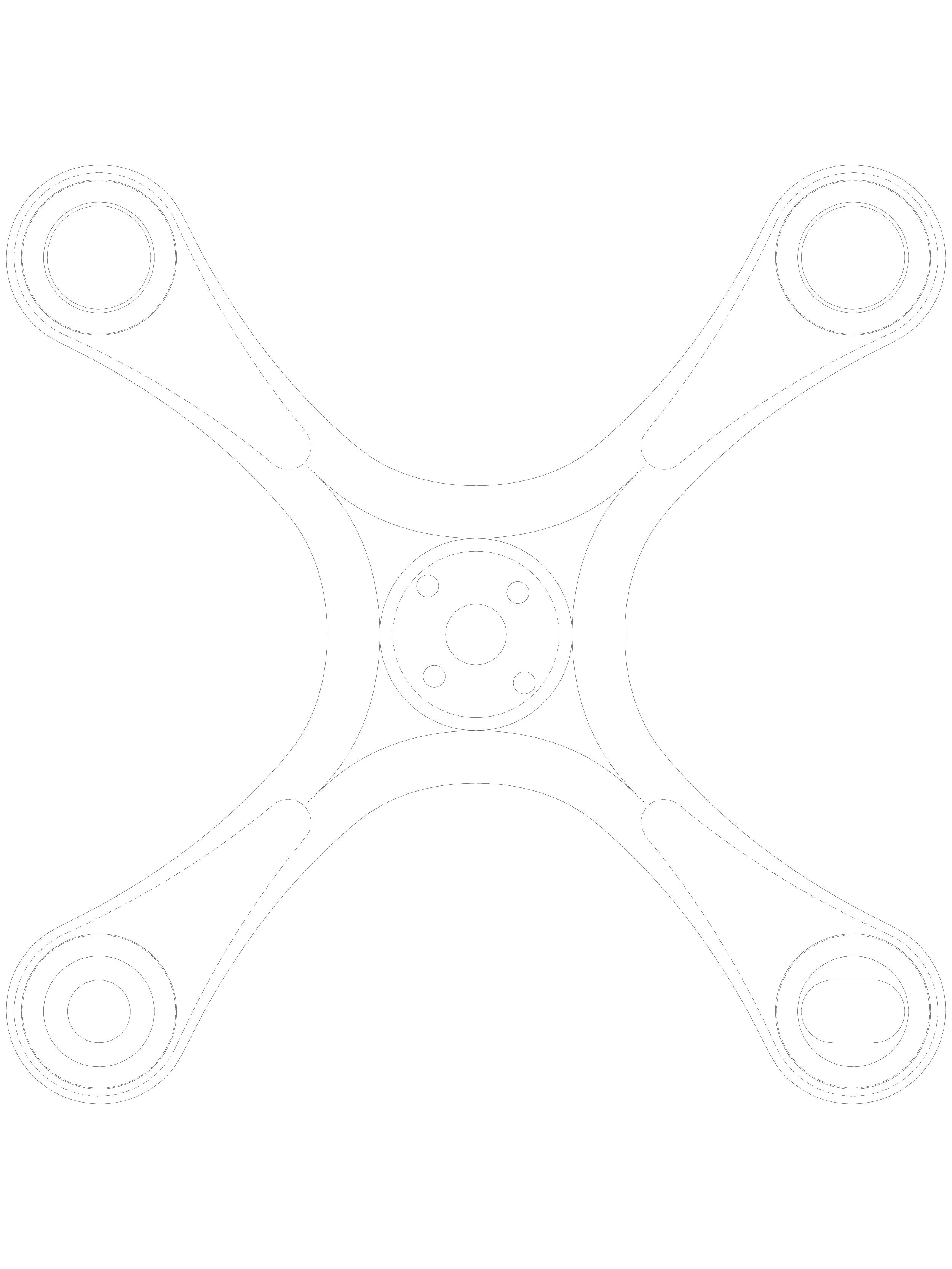 Pagina 1 - CAD-DWG Spider cu 4 brate pentru fatade SADEV CLASSIC Detaliu de produs S 3000