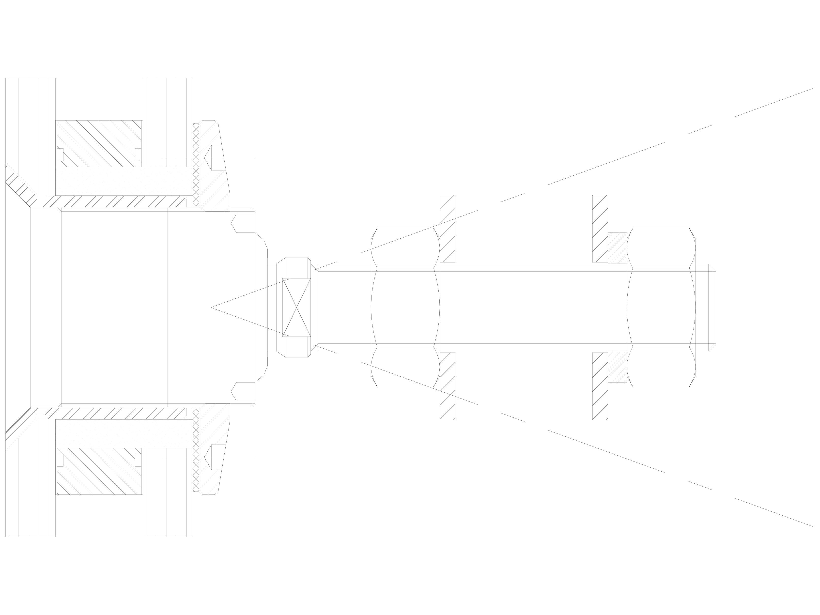Pagina 1 - CAD-DWG Bolturi cu rotula pentru sisteme spider SADEV CLASSIC Detaliu de produs R 1001A