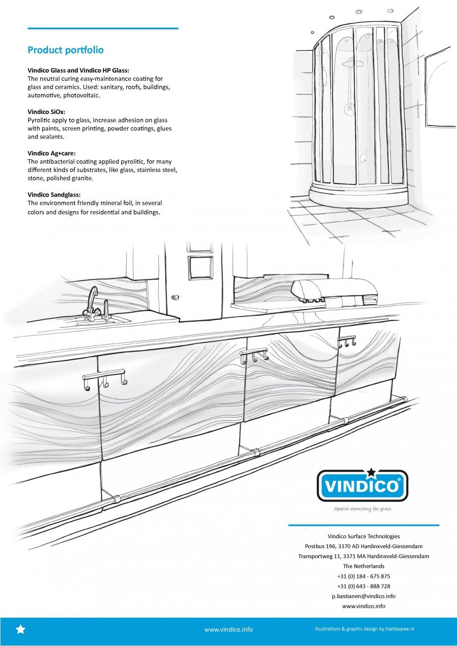 Pagina 3 - Tratamente pentru sticla VINDICO Catalog, brosura Engleza stry for glass  www.vindico...