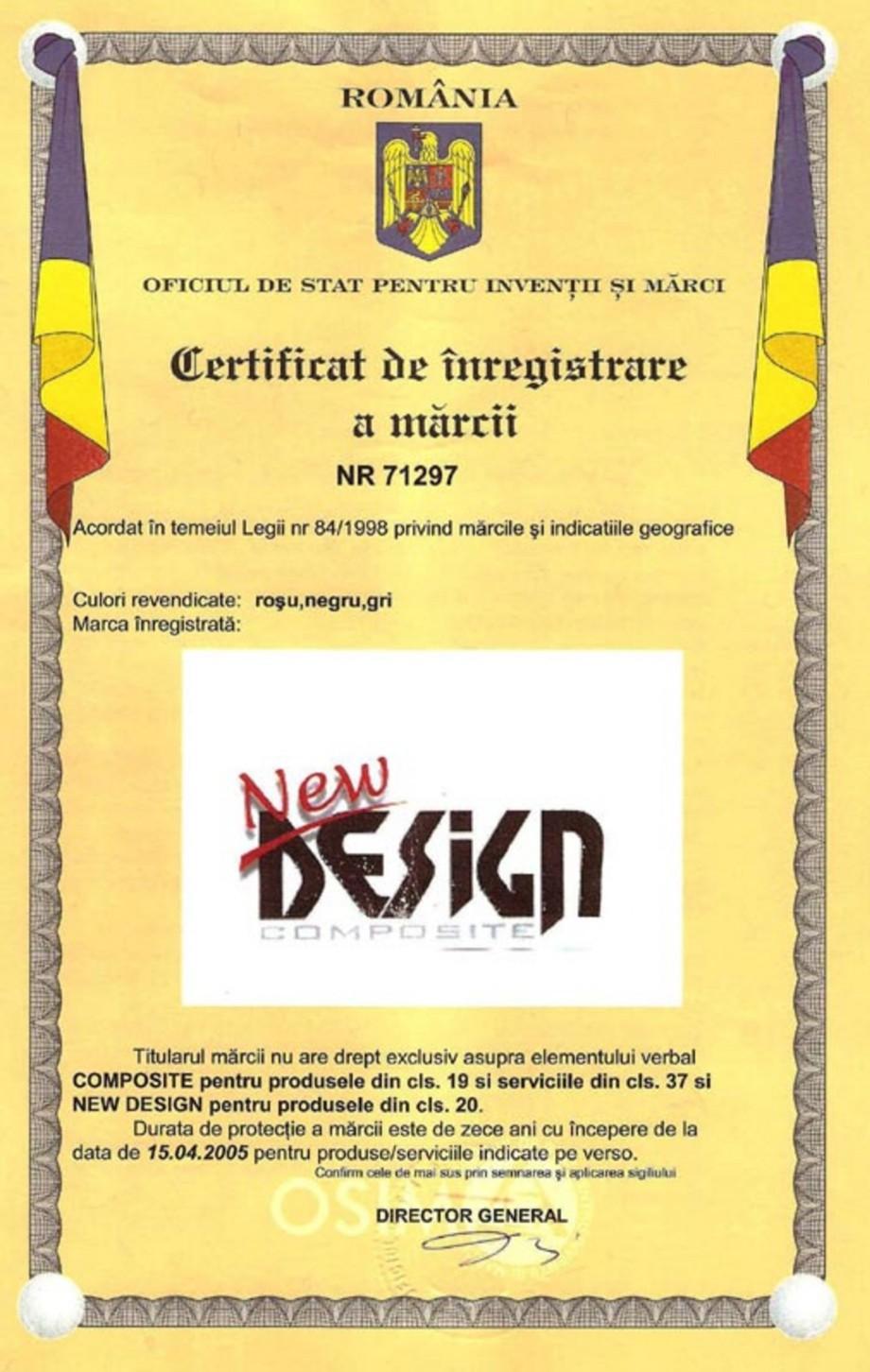 Pagina 1 - Certificat marca inregistrata  Certificare produs Romana