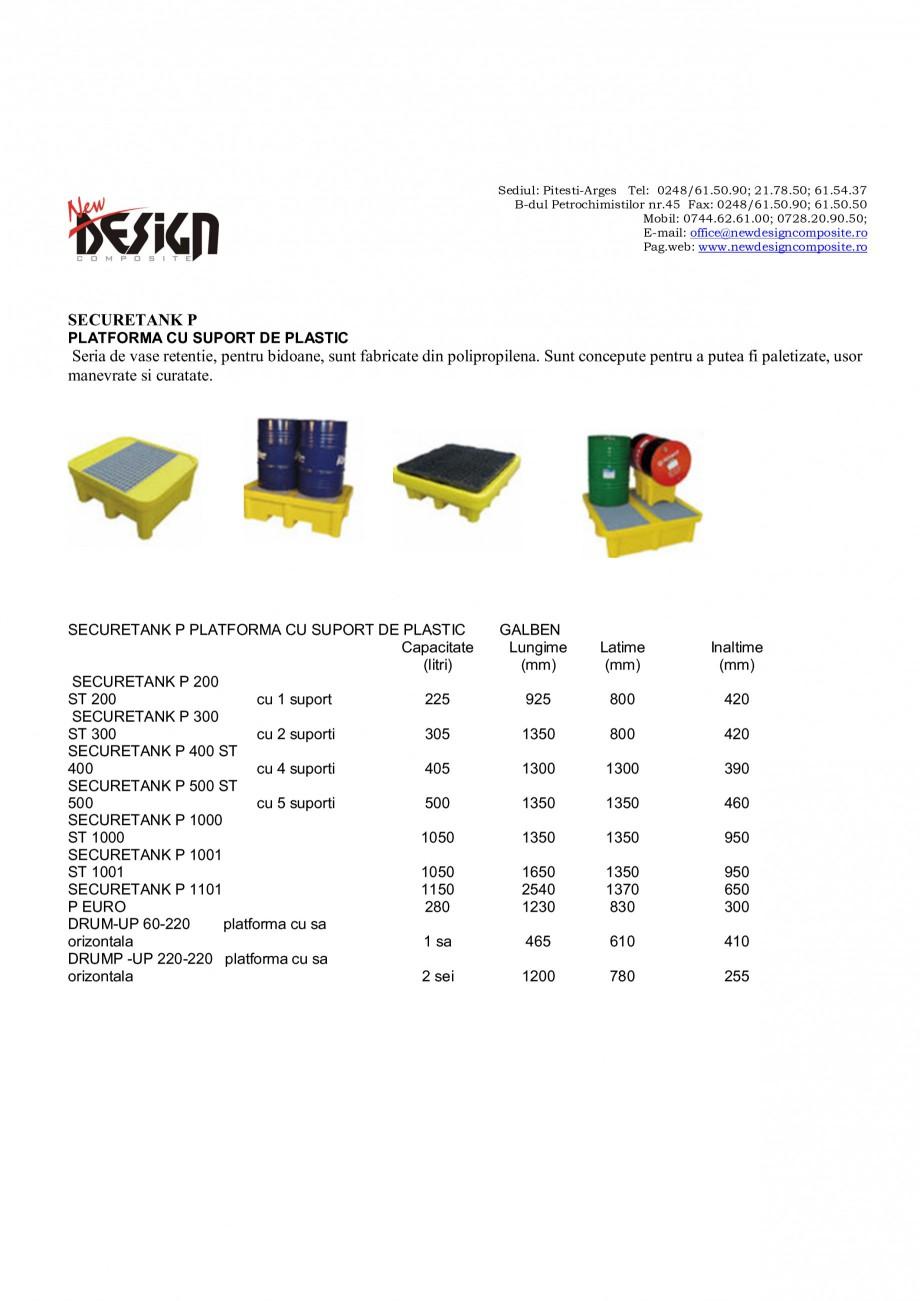 Pagina 1 - Platforme pentru retentie NEW DESIGN COMPOSITE Catalog, brosura Romana Sediul:...