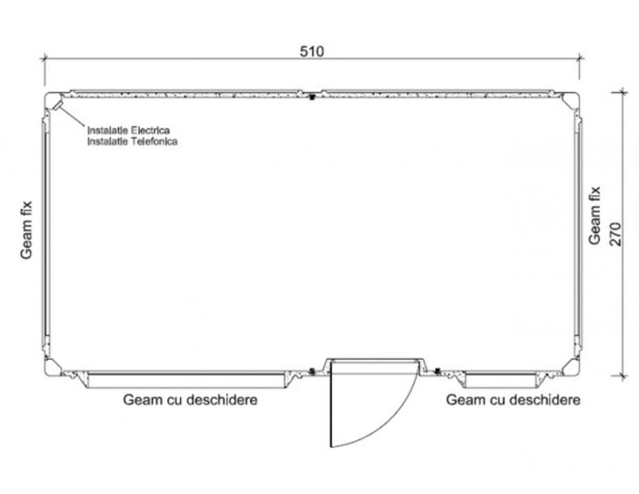 Pagina 1 - Cabine prefabricate NEW DESIGN COMPOSITE 2751 Fisa tehnica Romana