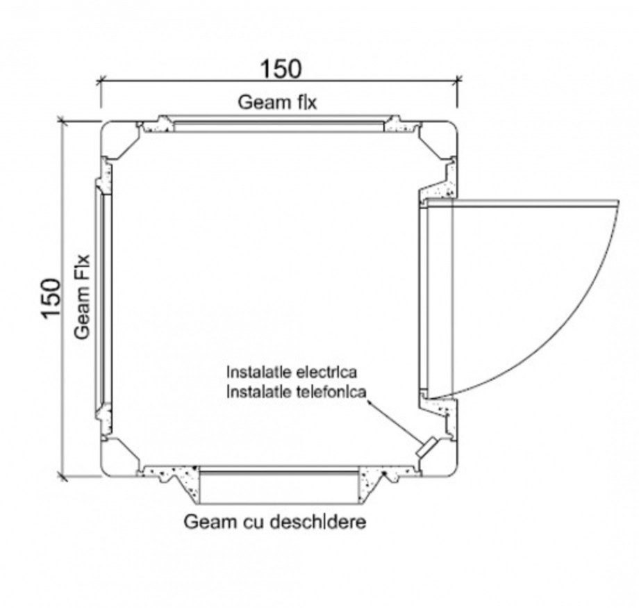 Pagina 1 - Cabine prefabricate NEW DESIGN COMPOSITE 1515 Fisa tehnica Romana