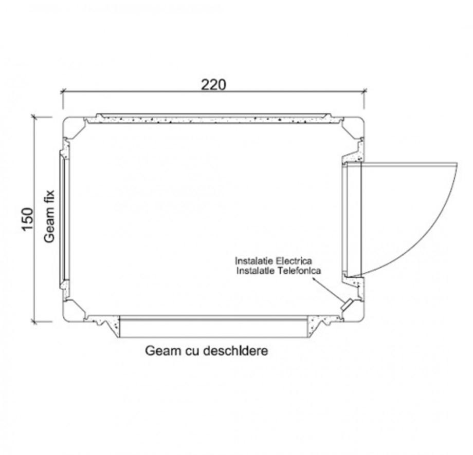 Pagina 1 - Cabine prefabricate NEW DESIGN COMPOSITE 1522 Fisa tehnica Romana