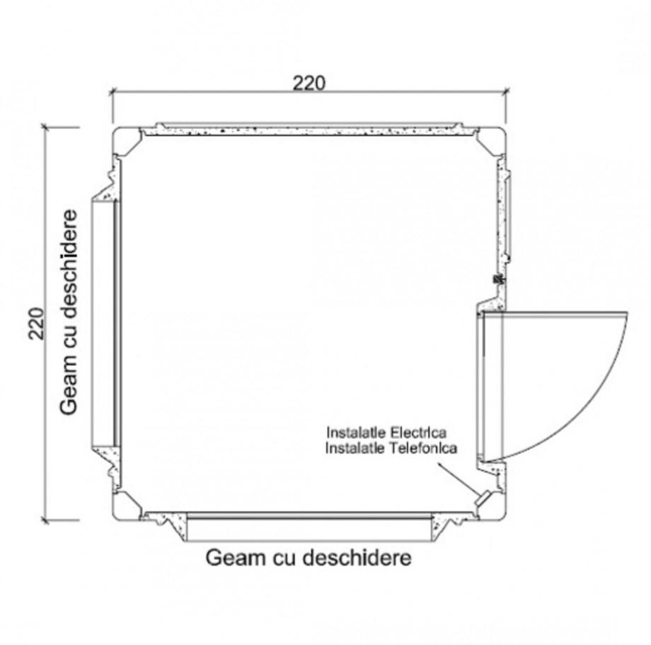 Pagina 1 - Cabine prefabricate NEW DESIGN COMPOSITE 2222 Fisa tehnica Romana