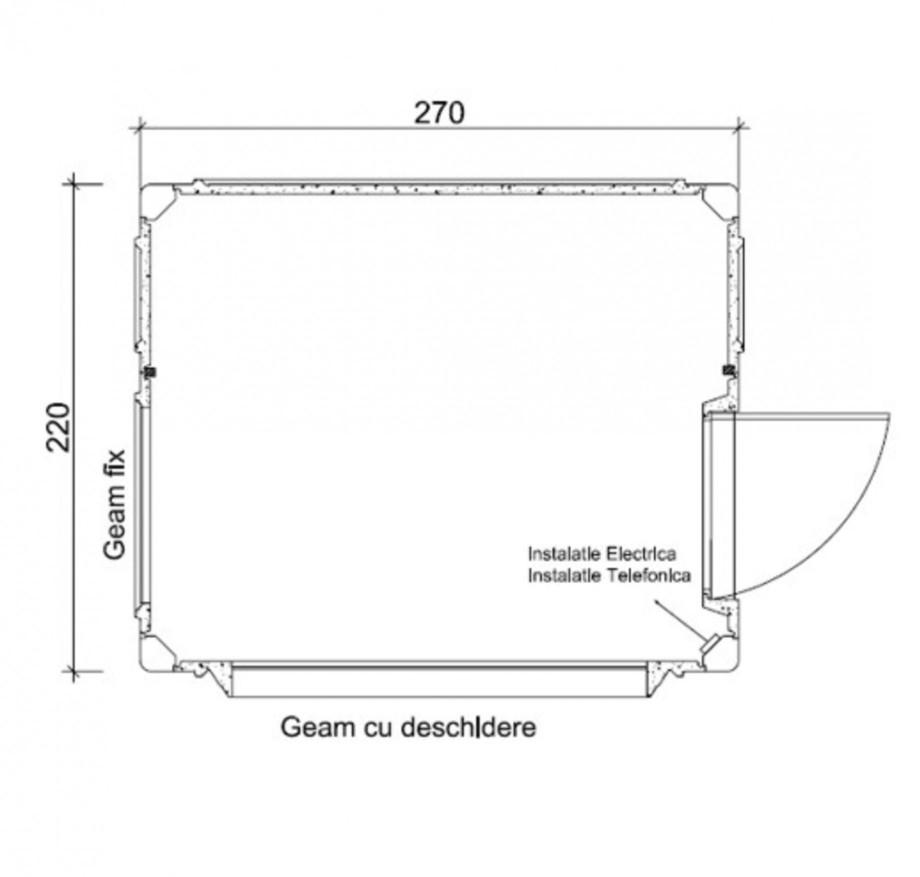 Pagina 1 - Cabine prefabricate NEW DESIGN COMPOSITE 2227 Fisa tehnica Romana