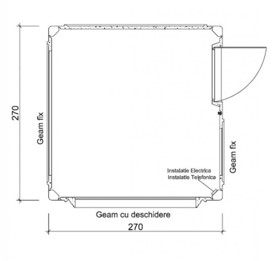 Pagina 1 - Cabine prefabricate NEW DESIGN COMPOSITE 2727 Fisa tehnica Romana