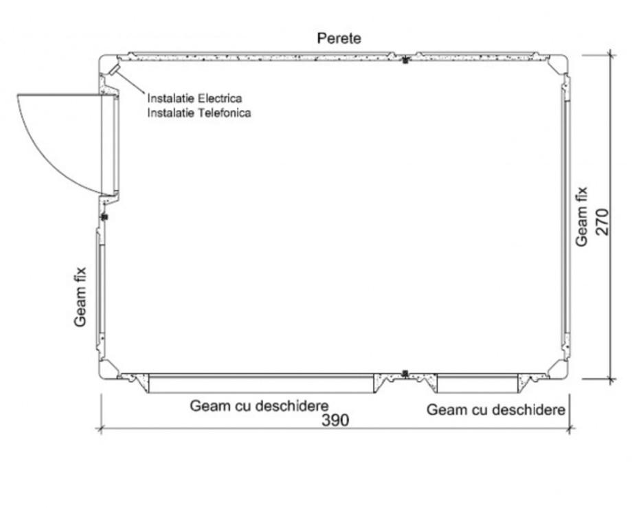 Pagina 1 - Cabine prefabricate NEW DESIGN COMPOSITE 2739 Fisa tehnica Romana