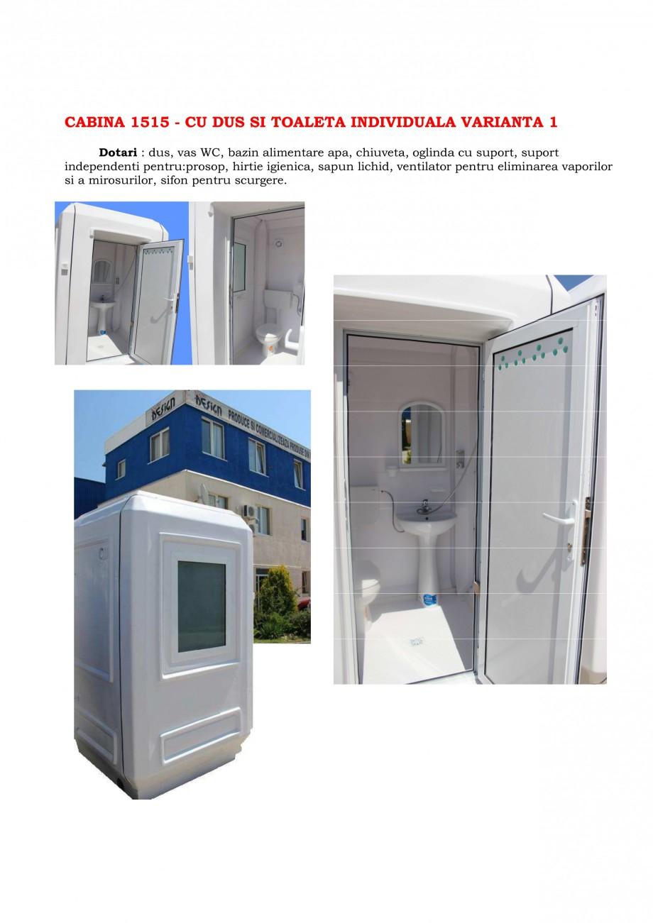 Pagina 3 - Cabine prefabricate si toalete ecologice NEW DESIGN COMPOSITE 2751, 1515, 1522, 1527,...