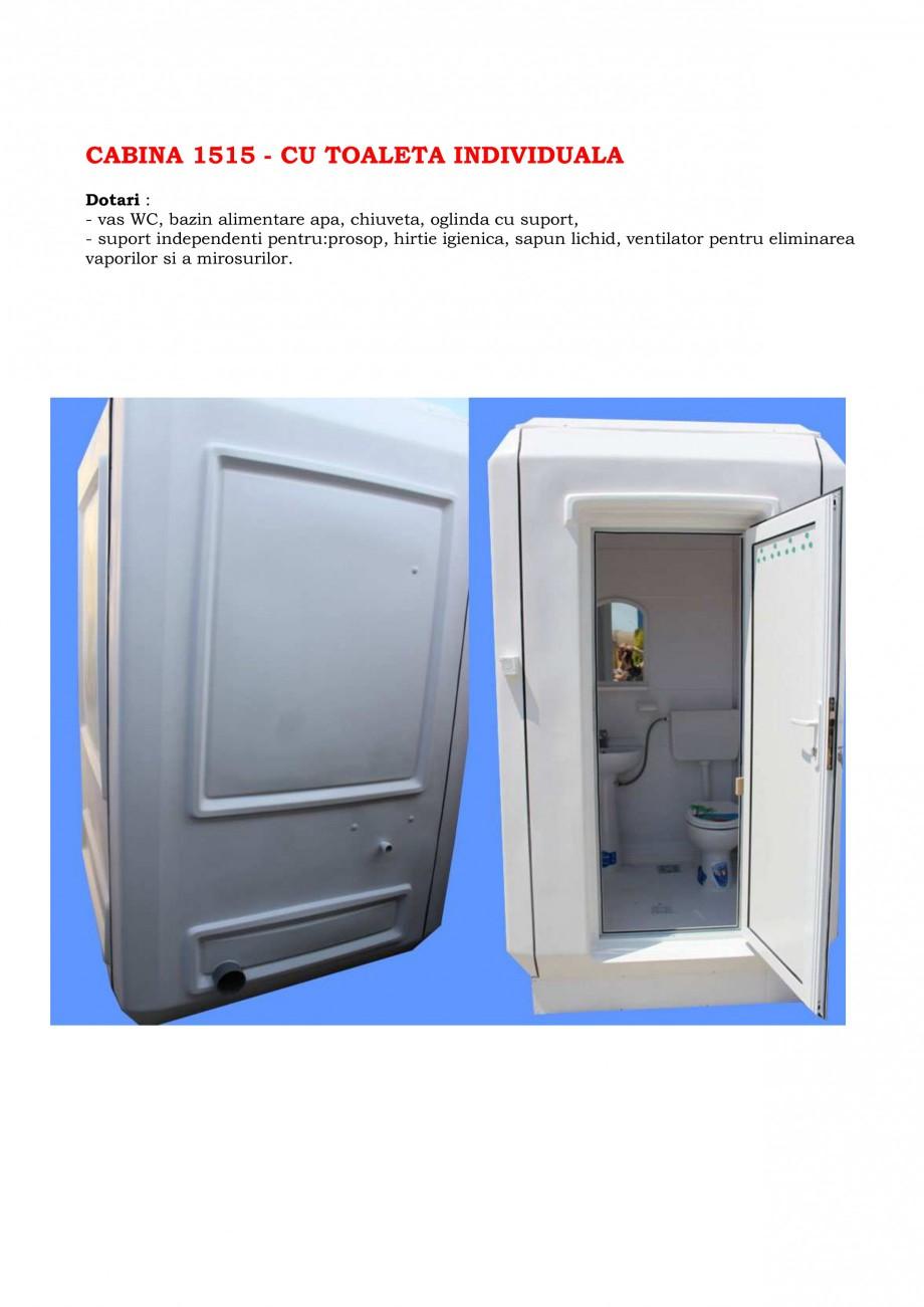 Pagina 4 - Cabine prefabricate si toalete ecologice NEW DESIGN COMPOSITE 2751, 1515, 1522, 1527,...