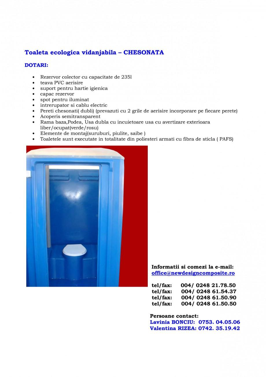 Pagina 13 - Cabine prefabricate si toalete ecologice NEW DESIGN COMPOSITE 2751, 1515, 1522, 1527,...