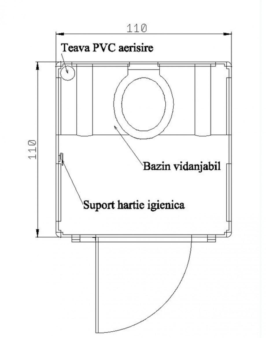 Pagina 1 - Toaleta ecologica vidanjabila nechesonata NEW DESIGN COMPOSITE Fisa tehnica Romana