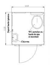 Toaleta ecologica racordabila cu vas nechesonata NEW DESIGN COMPOSITE