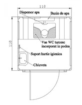 Toaleta ecologica racordabila fara vas nechesonata NEW DESIGN COMPOSITE