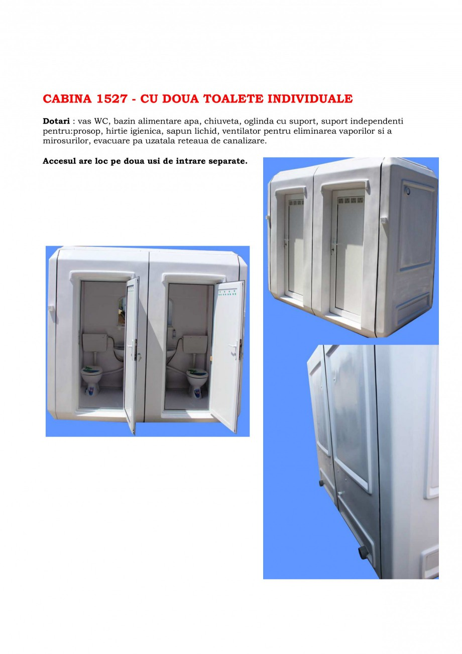Pagina 6 - Toalete ecologice si cabine prefabricate NEW DESIGN COMPOSITE Catalog, brosura Romana u) ...