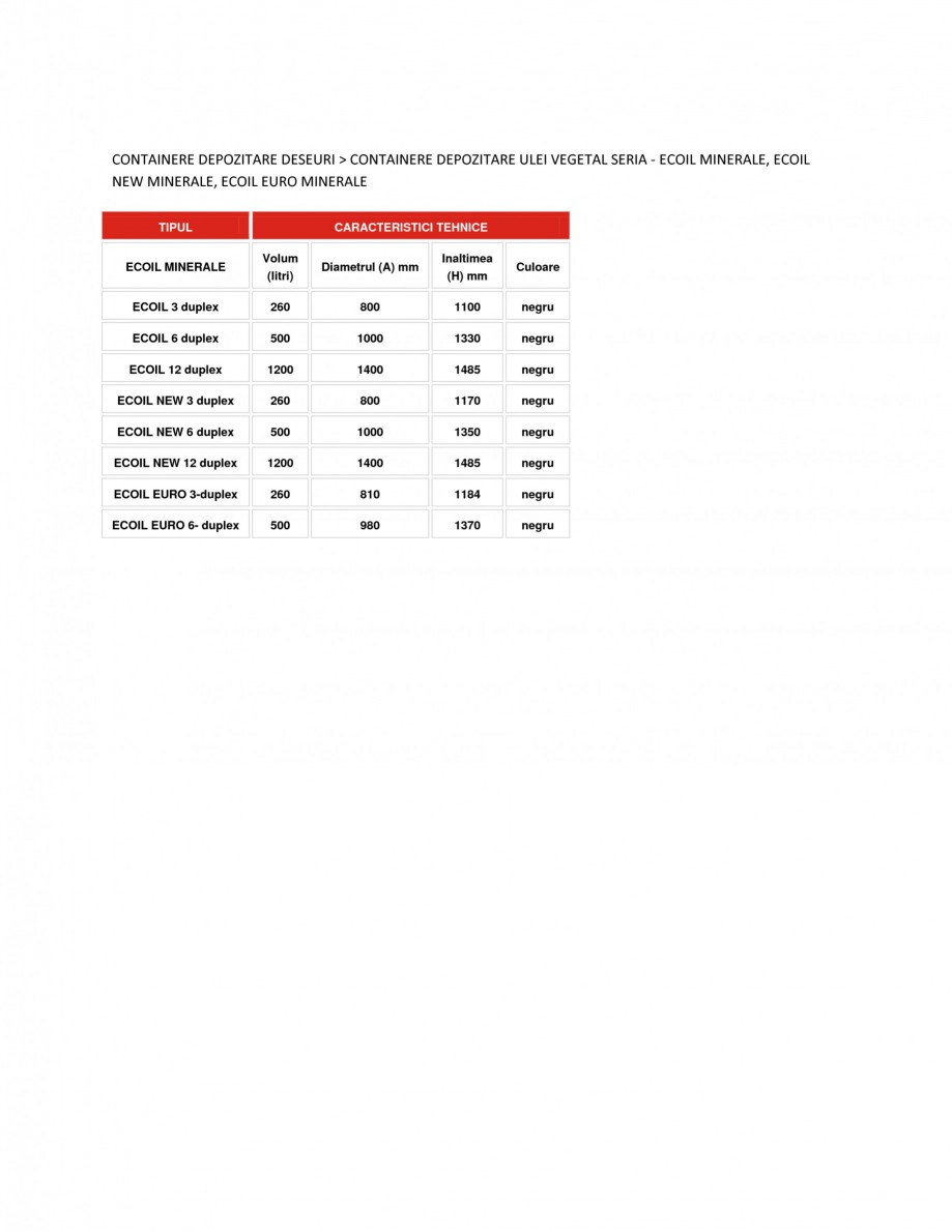 Pagina 1 - Containere depozitare ulei vegetal NEW DESIGN COMPOSITE ECOIL EURO MINERALE, ECOIL...