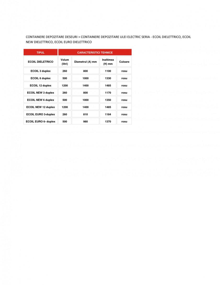 Pagina 1 - Containere depozitare ulei electric NEW DESIGN COMPOSITE ECOIL DIELETTRICO, ECOIL EURO...