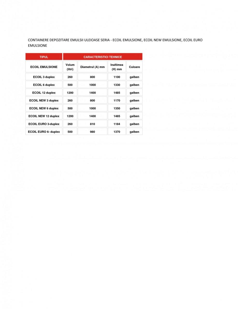 Pagina 1 - Containere depozitare emulsii uleioase NEW DESIGN COMPOSITE ECOIL EMULSIONE, ECOIL EURO...