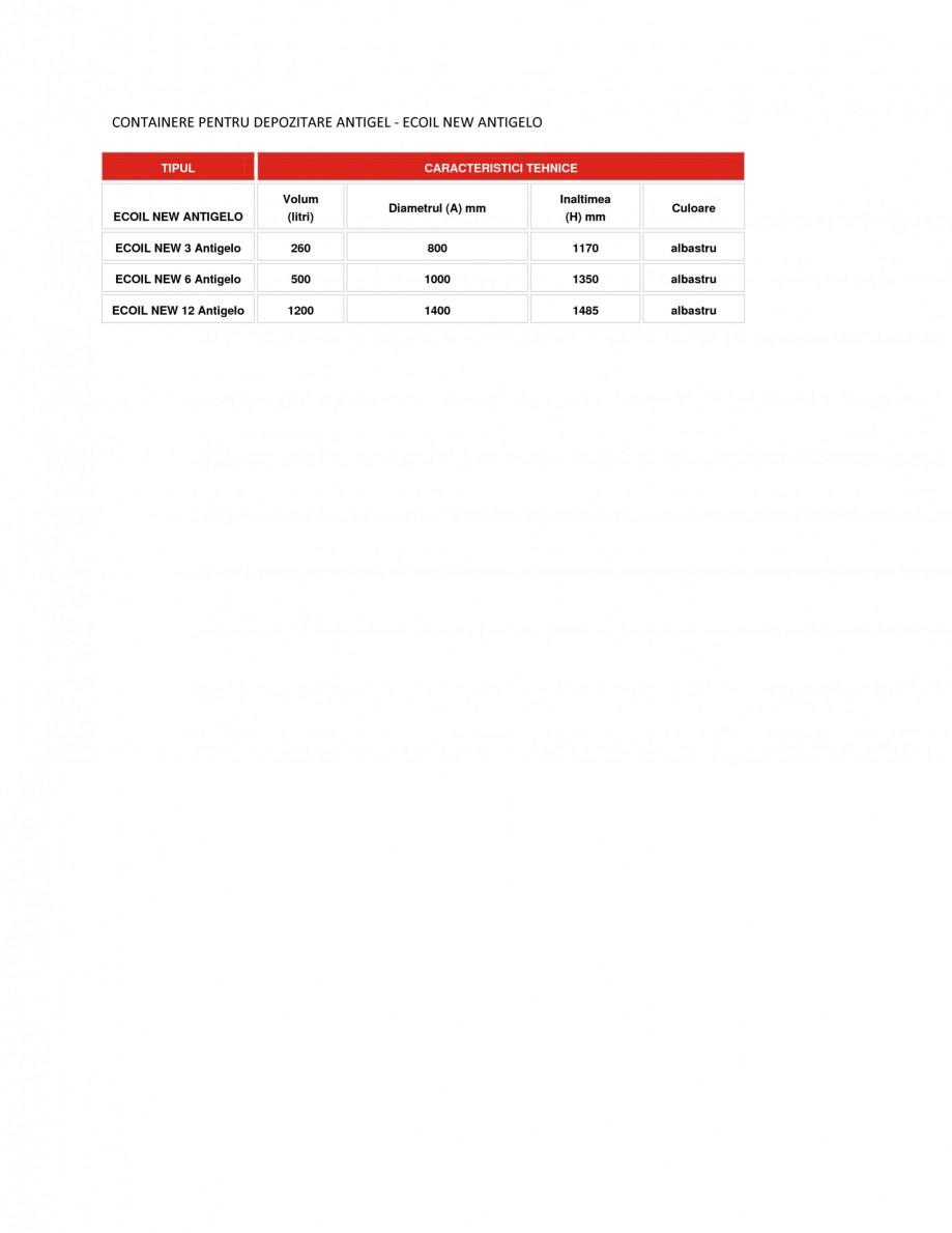 Pagina 1 - Containere depozitare antigel NEW DESIGN COMPOSITE ECOIL NEW ANTIGELO Fisa tehnica Romana...