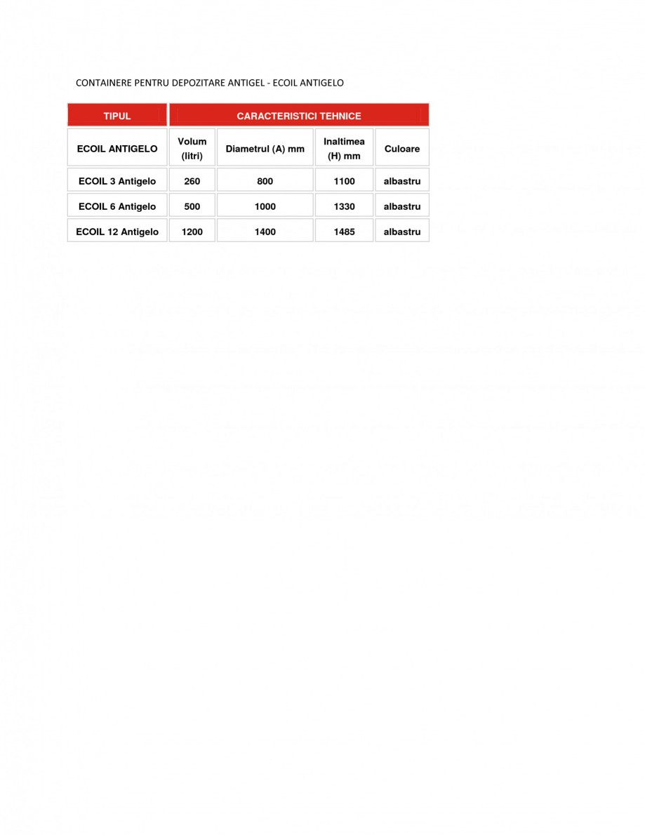 Pagina 1 - Containere depozitare antigel NEW DESIGN COMPOSITE ECOIL ANTIGELO Fisa tehnica Romana...
