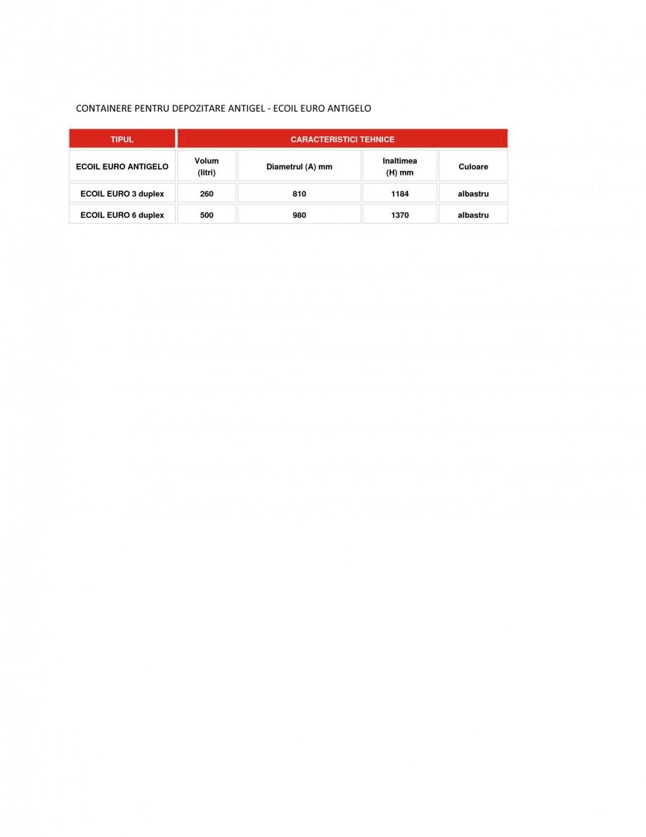 Pagina 1 - Containere depozitare antigel NEW DESIGN COMPOSITE ECOIL EURO ANTIGELO Fisa tehnica...