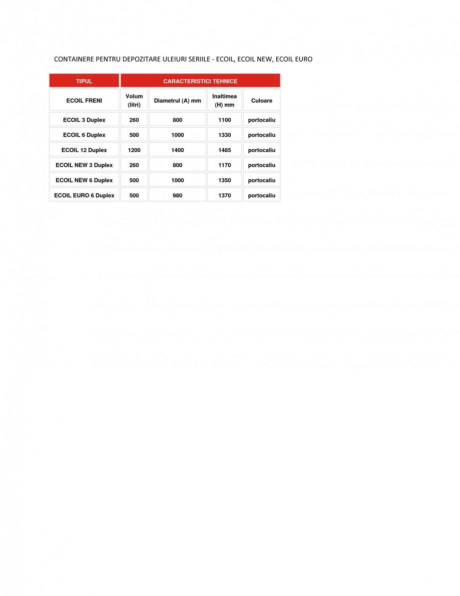 Pagina 1 - Containere depozitare uleiuri NEW DESIGN COMPOSITE ECOIL, ECOIL NEW, ECOIL EURO Fisa...