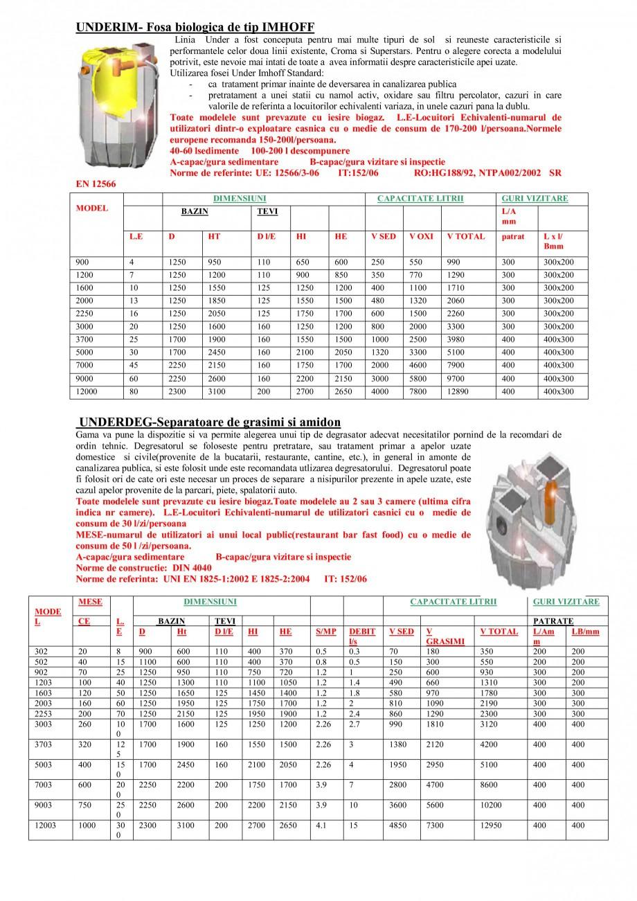 Pagina 2 - Sisteme de tratare a apelor NEW DESIGN COMPOSITE UNDER IMHOFF STANDARD, UNDER IMHOFF CLOR...