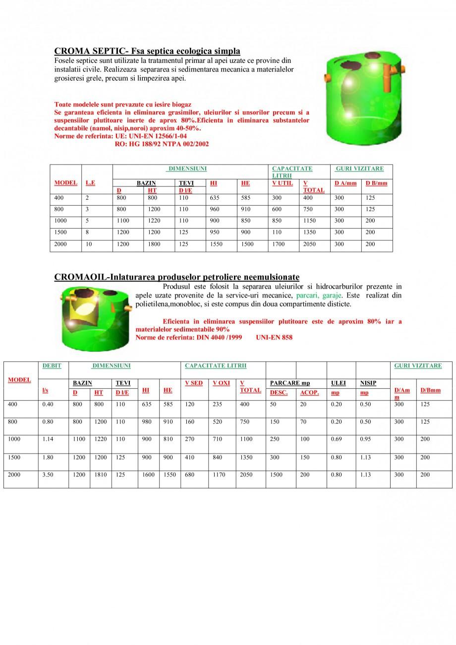 Pagina 4 - Sisteme de tratare a apelor NEW DESIGN COMPOSITE UNDER IMHOFF STANDARD, UNDER IMHOFF CLOR...