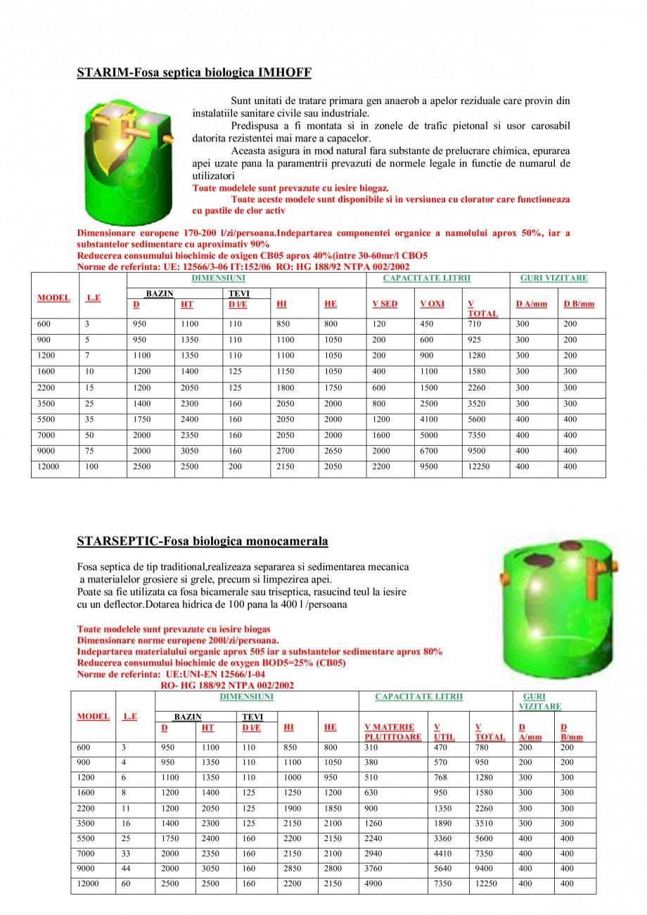 Pagina 5 - Sisteme de tratare a apelor NEW DESIGN COMPOSITE UNDER IMHOFF STANDARD, UNDER IMHOFF CLOR...
