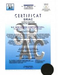 Certificat ISO SRAC 9001-2008