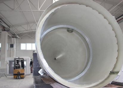 Sedimentatoare si scrubere pentru canal intern sau extern, inele interioare NEW DESIGN COMPOSITE