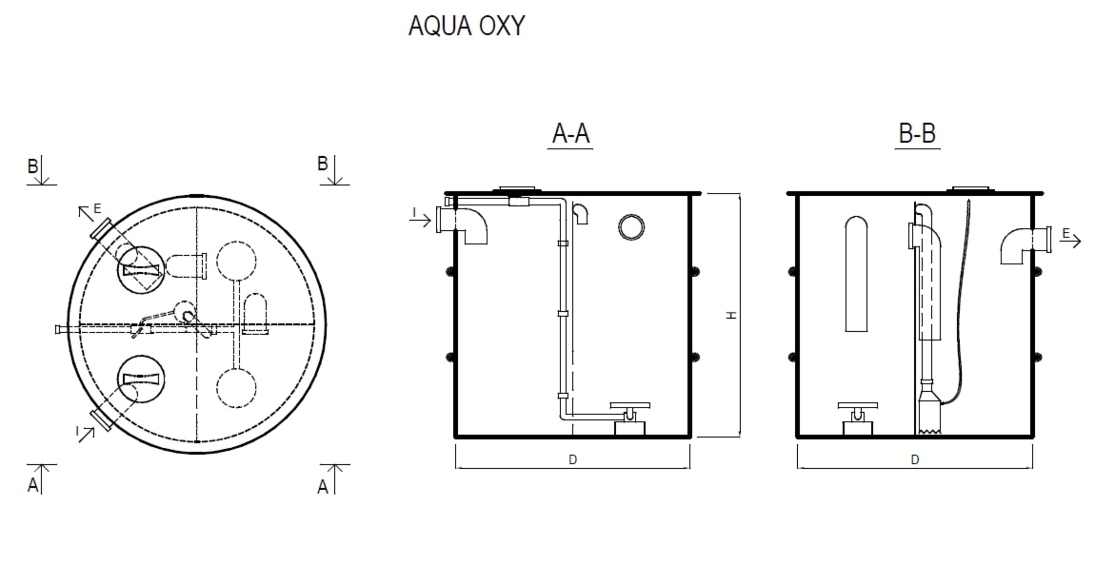 Pagina 1 - CAD-PDF Ministatie de epurare Aqua oxi verticala NEW DESIGN COMPOSITE Detaliu de produs