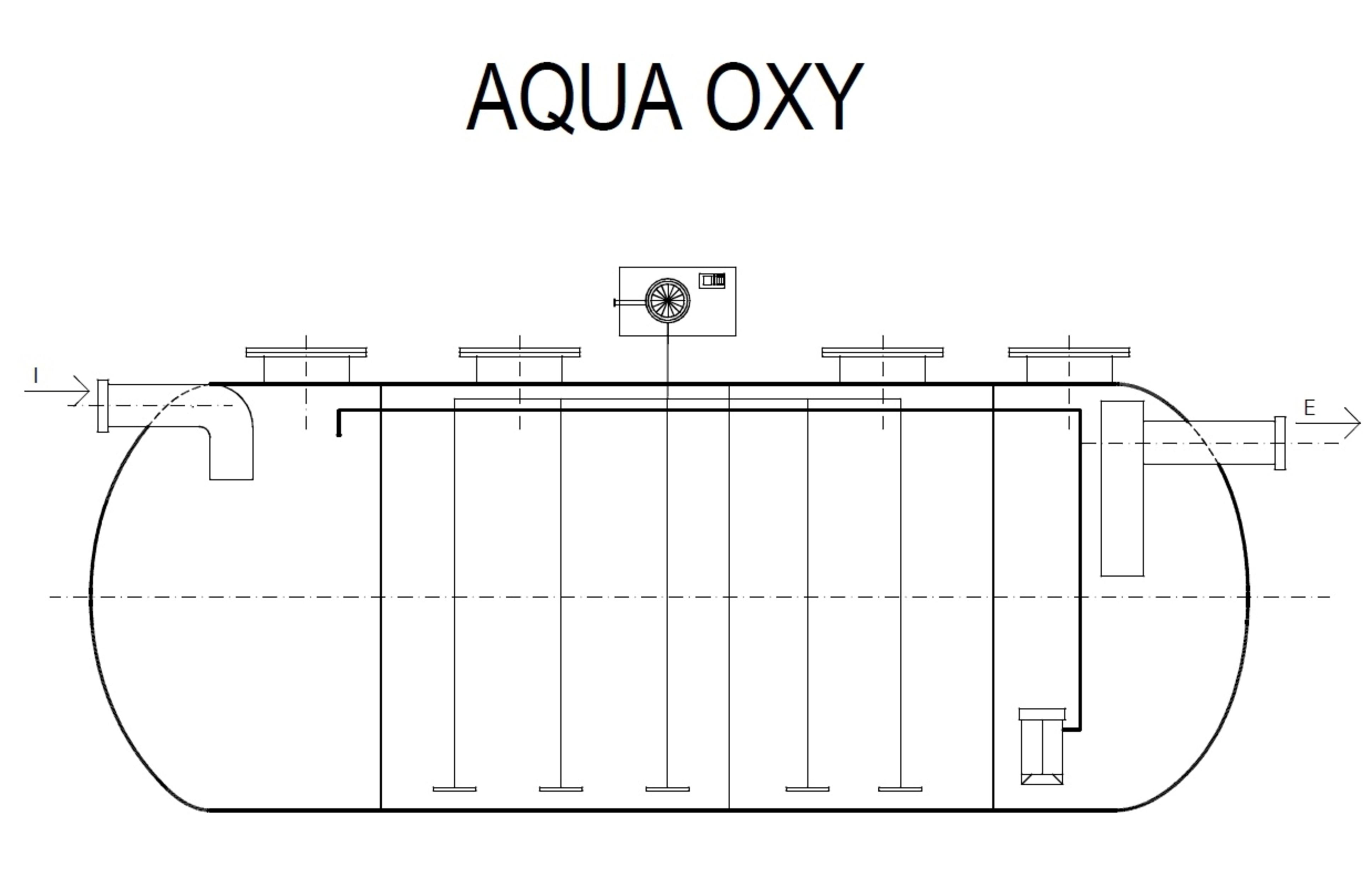 Pagina 1 - CAD-PDF Ministatie de epurare Aqua oxi orizontala NEW DESIGN COMPOSITE Detaliu de produs