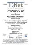 Certificat ISO 14001-2004 NEW DESIGN COMPOSITE