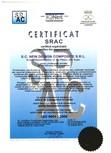 Certificat ISO SRAC 9001-2008 NEW DESIGN COMPOSITE
