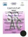 Certificat SRAC OHSAS 18001-2007