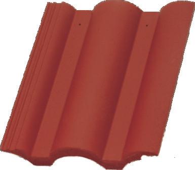 Tigle din beton rosu TERRAN - Poza 1